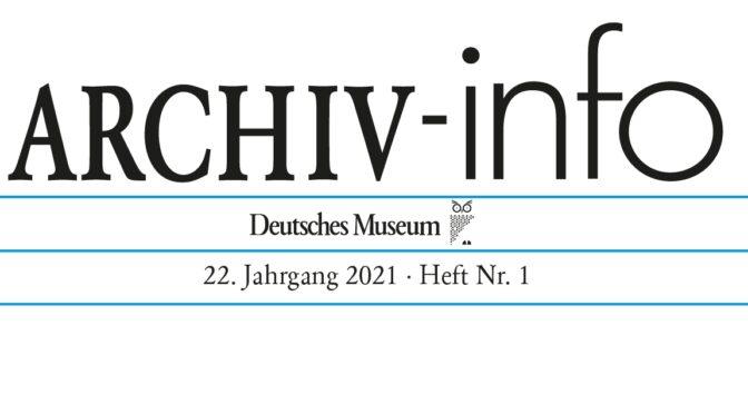 ARCHIV-info 1/2021
