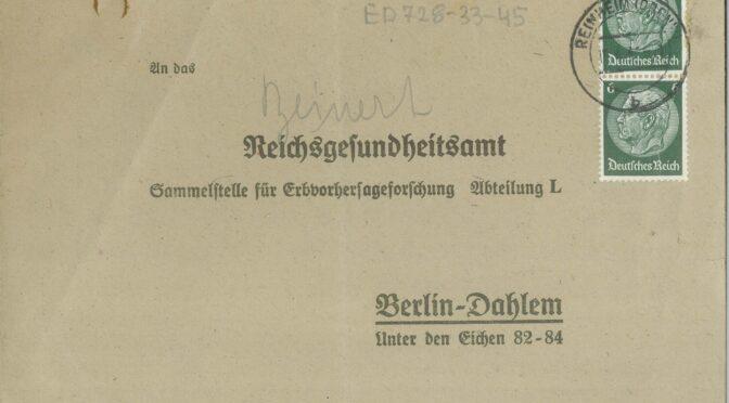 Umfrage zu den Verfahrensakten der Erbgesundheitsgerichte zwischen 1933 und 1945 gestartet